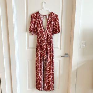 Xhilaration Half Romper Half Maxi Dress | Medium